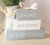 Unique Personalised Newly Married Shelf Sitter Gift